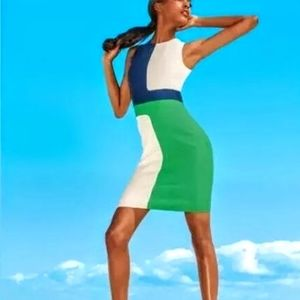 Michael Kors Made in Italy Colorblock Dress